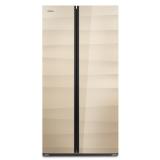 康佳(KONKA)435升 时尚超纤薄 节能保鲜 钢化玻璃 对开门冰箱(金色)BCD-435BX5S