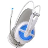 硕美科(SOMIC) G938 头戴式电脑耳麦 7.1声效游戏耳机  带线控  佩戴舒适 白色