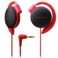 铁三角(audio-technica)ATH-EQ500 轻量便携 时尚运动 舒适挂耳式耳机 红色