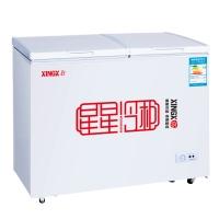 星星(XINGX) 195升 左冷冻右冷藏 双箱双温冰柜 卧式冰箱 家用商用二合一 顶开门冷柜 BCD-195E