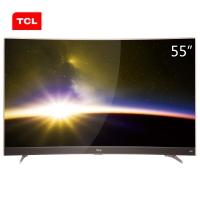 TCL 55P3 55英寸曲面4K智能电视 HDR显示技术超窄金属边框(玫瑰金)(一价全包)