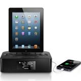 飞利浦(PHILIPS)AJ7050D 苹果iPhone6S/6Plus充电器 音乐底座音响 家居音箱 时钟收音机 黑色