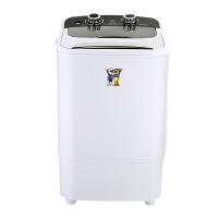 小鸭 4公斤单筒半自动迷你洗衣机 婴儿童宝宝小型洗衣机洗沥一体 白色 XPB40-288B