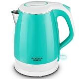 澳柯玛(AUCMA)电热水壶 304不锈钢烧水壶 双层防烫 ADK-1800D39 1.7L电水壶 绿色