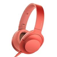 索尼(SONY)MDR-H600A 头戴式音乐耳机 流行女声利器 Hi-Res手机耳机 通用 暮光红