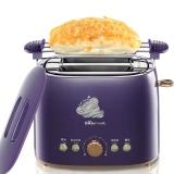 小熊(bear)烤面包机多士炉家用2片早餐机 吐司机 带防尘盖外置式烤架 DSL-A20J1