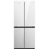 万宝(Wanbao) 390升十字对开门冰箱 7档温控调节 静音节能 六大独立冷冻盒 银色BCD-390MC