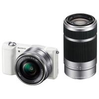 索尼(SONY)ILCE-5000Y APS-C双镜头微单相机 白色(约2010万有效像素 16-50/55-210 a5000/α5000)