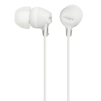 索尼(SONY) MDR-EX15LP 小巧入耳式耳机,佩戴舒适 半透明果冻色渐变机身 白色