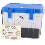 銳瑪(EIRMAI) R10 單反相機干燥箱 防潮箱 密封鏡頭電子箱  中號 送大號吸濕卡 炫藍色