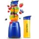 摩飞(Morphyrichards)榨汁机原汁机 便携式果汁搅拌奶昔婴儿辅食机双杯MR9200