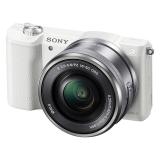 索尼(SONY)ILCE-5100L APS-C单镜头微单相机 白色(约2430万有效像素 16-50mm镜头 a5100L/α5100)