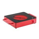米技(MIJI)home Cube2德国电陶炉 电磁炉 西瓜红(煮茶 烧烤 静音 拒绝高频辐射 不挑锅)