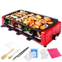 克来比(KLEBY)电烧烤炉 家用无烟电烤炉韩式电烤盘 双层大号配8小碟适合6-10人 KLB9003