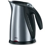 博朗(Braun)电热水壶 304不锈钢 金属壶身烧水壶 WK600 1.7L电水壶