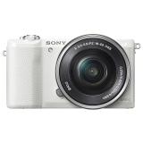 索尼(SONY)ILCE-5100L APS-C单镜头微单相机(相机包/存储卡套装) 白色(约2430万有效像素 16-50mm镜头 a5100L/α5100)