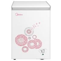 美的(Midea)96升 冷藏冷冻转换冰柜 迷你家用小冷柜 一级能效(悦动粉) BD/BC-96KM(E)