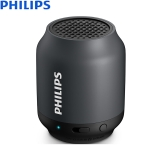 飞利浦(PHILIPS)BT25B 无线蓝牙音箱 便携迷你Q'Q'音箱 兼容苹果/安卓手机/电脑小音响 黑色