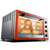 格兰仕(Galanz)烤箱家用多功能烘焙30升/L 光波加热 上下独立控温带转叉热风 K3