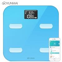 云麦(YUNMAI)好轻Color蓝色智能体脂秤 电子秤 脂肪秤 体重秤 24项身体数据 蓝牙连接 好轻APP+京东微联APP可控制