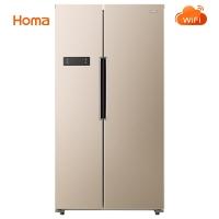 奥马(Homa) 521升 智能变频对开门冰箱 风冷无霜 WIFI智控 节能静音 恒温养鲜 金色 BCD-521WI