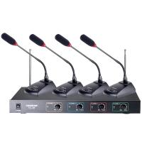 得胜 (TAKSTAR) TC-4R(266组)4鹅颈麦 无线话筒一拖四麦克风专业会议桌面鹅颈 会议舞台KTV演讲主持话筒