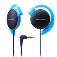 铁三角(audio-technica)ATH-EQ500 轻量便携 时尚运动 舒适挂耳式耳机 蓝色