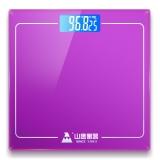 山鹰 SYE-903H-J 电子称体重秤家用人体秤电子秤礼品秤 (华贵紫)
