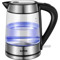 蘇泊爾(SUPOR)玻璃電水壺熱水壺高硼硅玻璃電熱水壺 SWF17E26A