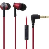 铁三角 (audio-technica) ATH-CK330iS RD 智能型手机专用耳塞式通话耳机 红色