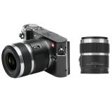 小蚁(YI)微单相机M1黑色定焦变焦双镜套装 2016万像素 4K 时尚轻便可换镜头相机