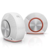 JBL Pebbles 音乐蜗牛 电脑小音箱/音响 PC音响 USB供电 低音炮 2.0音响 白色
