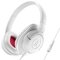 铁三角 (audio-technica) ATH-AX1iS WH 头戴式手机通话耳机 白色