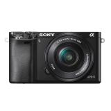 索尼(SONY)ILCE-6000L APS-C单镜头微单相机 黑色(约2430万有效像素 16-50mm镜头 a6000L/α6000)