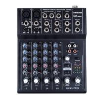 得胜(TAKSTAR)XR-208专业调音台 带48V幻象电源8路输入 个人录音家庭K歌小型会议专用 黑色