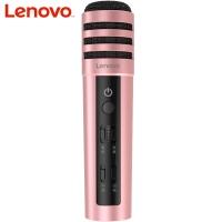 联想(Lenovo) UM10C手机麦克风 全民K歌主播快手抖音专用话筒 苹果安卓电容麦 音响电脑唱歌 升级版玫瑰金