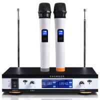双诺 Z03 一拖二无线麦克风 无线手持话筒 双手麦 KTV 舞台无线话筒(液晶屏显示)