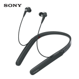 索尼(SONY)WI-1000X Hi-Res颈挂式 入耳式 无线蓝牙耳机 降噪耳机 手机通话 黑色