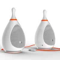JBL Bowling 音乐保龄 电脑蓝牙小音箱 USB供电 低音炮 2.0迷你音响 白色