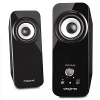 创新(Creative)Inspire T12音箱2.0声道高音质小音箱 电脑书架多媒体音响低音炮
