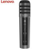联想(Lenovo) UM10C手机麦克风 全民K歌主播快手抖音专用话筒 苹果安卓电容麦 音响电脑唱歌 升级版深空灰