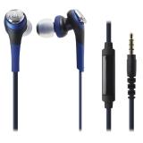 铁三角(Audio-technica)ATH-CKS550IS 重低音 手机通话入耳式耳机 蓝色
