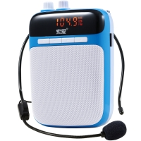 索爱(soaiy)S-318 便携式数码扩音器 大功率小蜜蜂扩音器教学专用教师导游 插卡播放器 唱戏机 月光蓝