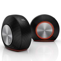 JBL Pebbles 音乐蜗牛 电脑小音箱/音响 PC音响 USB供电 低音炮 2.0音响 黑色