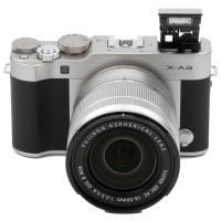 富士(FUJIFILM)X-A3 XC16-50mm 银黑色 微单电套机 2420万像素 180度多点触摸屏 XA3 WIFI遥控 USB充电