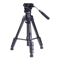 云腾(YUNTENG) VT-8008 微电影级专业大型三脚架云台套装 微单数码单反相机摄像机用 优质铝合金三角架黑色
