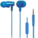 铁三角(Audio-technica)ATH-CLR100is BL 入耳式线控通话耳机 智能手机专用耳麦 蓝色