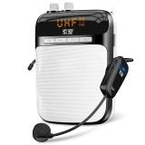 索爱(soaiy)S-708 UHF无线扩音器 大功率小蜜蜂扩音器教学专用教师导游 插卡式便携式数码播放器 钢琴黑