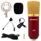 双诺Z08 专业电容混响有线麦克风 网络K歌 电脑/音箱/话筒 红色