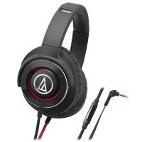 铁三角(Audio-technica)ATH-WS770iS 便携式智能手机耳麦 黑红